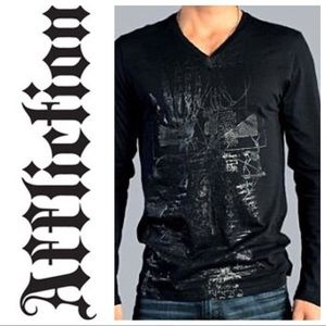 Men's Affliction Long Sleeve V-Neck
